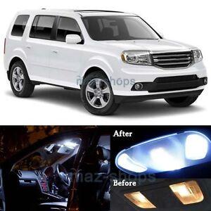 pcs white led lights interior lamp package kit    honda pilot mp  ebay