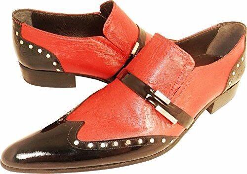 100% Chelsy - Modern Italienischer Designer Slipper Straußenmuster vernietet 42