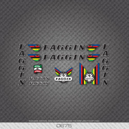 Black Text With White Key 0675 Faggin Bicycle Stickers Transfers Decals
