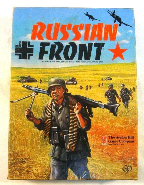 Russian davanti, Avalon Hill; Bonus  2nd Ed Rule,  extra aids, OOB, map extension  garanzia di qualità