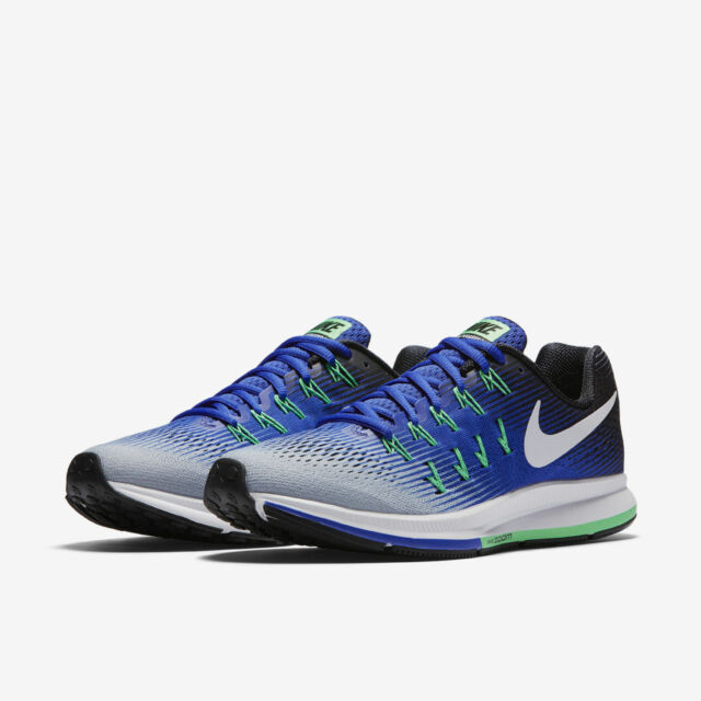 meet 75a59 d13a1 Nike Air Zoom Pegasus 33 Men's Running Training Shoes Blue Wolf Grey 831352  008