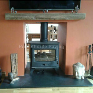 Details about Fireplace Hearth | LARGE Hearths 1 5m Wide | 4 Depths |  Natural Black Limestone