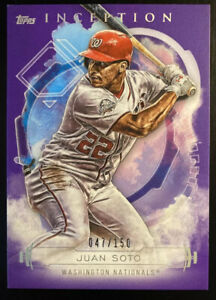 🔥 2019 Juan Soto /150 Topps Inception PURPLE Parallel 2nd Year Nationals
