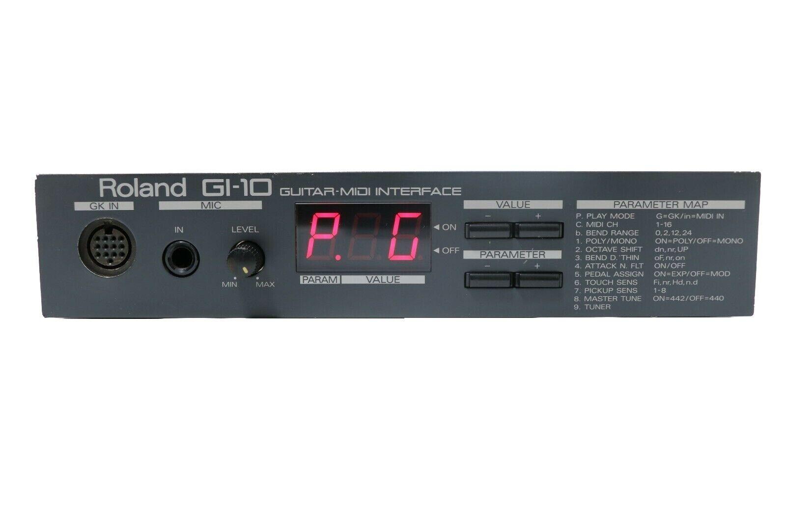 ROLAND GI-10 Guitarra Guitarra Guitarra Midi Interface Sintetizador & Fuente De Alimentación + Cable GKC5 3a80b9