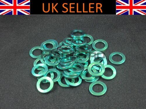 RacePro M6 x 10mm x 1.2mm 6x Titanium Washer GR5 Green