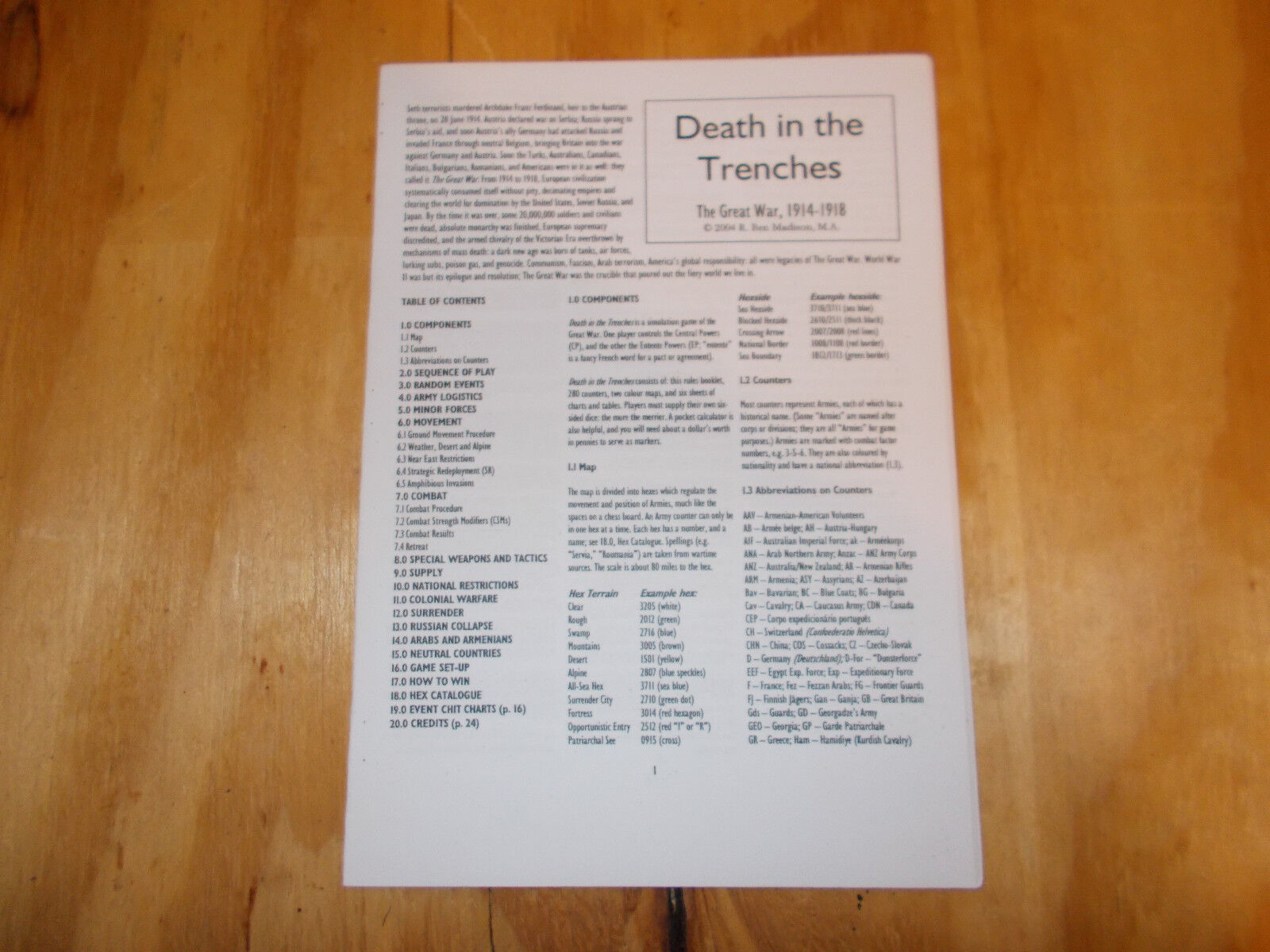 Schutze Death in the Trenches - The Great War, 1914-1918 New-Mint Condition