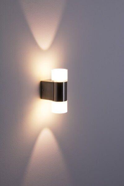 LED Applique lampada da parete design moderno metallo nichel lucido vetro 115136