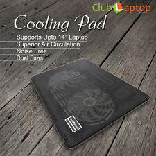 "Clublaptop N10 Laptop Cooling Pad Stand For 13.3"" 14"" Laptops-LED Light(Black)"