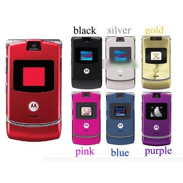 Motorola Razr V3 Red Unlocked Cellular Phone For Sale Online Ebay