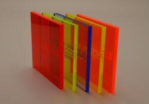 Details about Fluorescent Plastic Perspex Acrylic Sheet Blue Orange Yellow  Green Red Live Edge