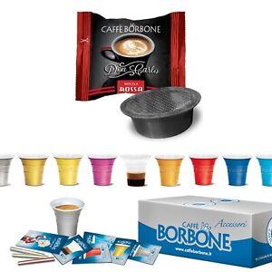 100-Capsule-Borbone-Don-Carlo-Miscela-Rossa-Lavazza-A-Modo-Mio-con-Accessori