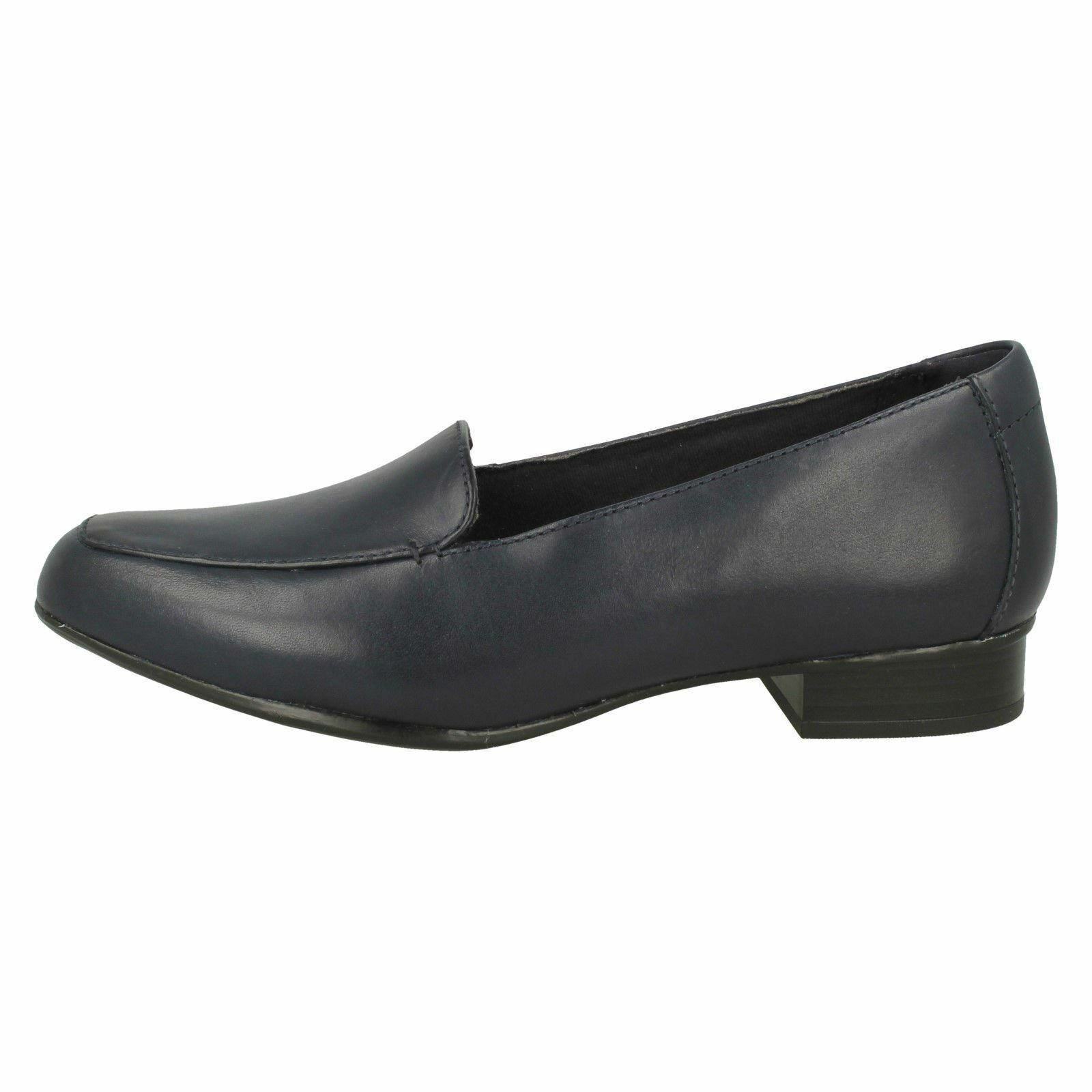 LADIES CLARKS LEATHER SLIP ON CASUAL LOAFER FLAT LOW HEEL LOAFER CASUAL Schuhe SIZE JULIET LORA 764da4