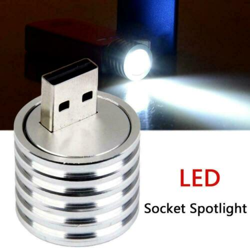 USB Plug LED Spotlight Lamp Mini Mobile Power Flashlight Bright Light  glar I3K3