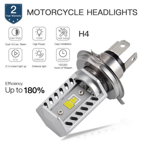1x H4 For Harley XLH883 1986-2003 Sportster LED Headlight Hi//Low 9003 White Bulb