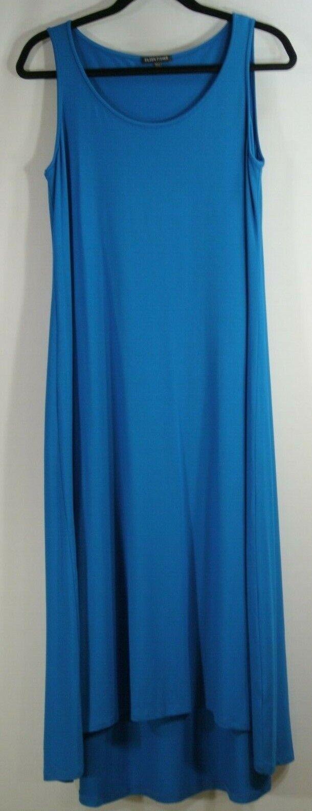 Nouveau Eileen Fisher High Low Jersey Shift Robe En Blau-Größe M  D2419