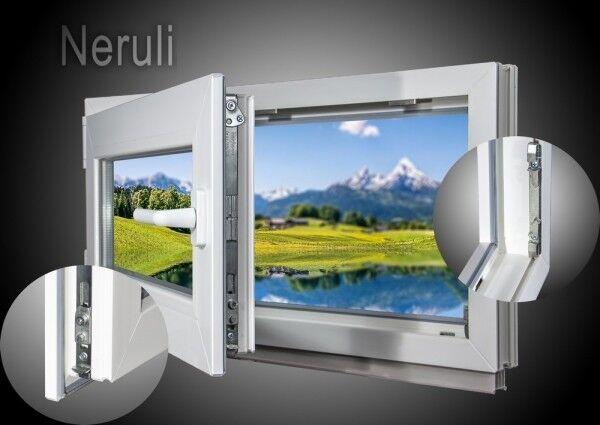 Kellerfenster Kunststoff Fenster 2 & 3 Verglast Dreh Kipp alle Größen Sondermass