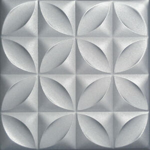 "CARACAS Metalic SILVER Glue Up 20/"" x 20/"",Styrofoam Ceiling Tiles"
