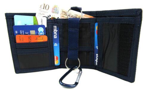 Unisex Tela Sports WALLET PORTA CARTE DI CREDITO COIN POUCH Borsa Clip da cintura loop