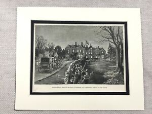 1875-Print-Bradgate-House-Hall-Groby-Leicester-Leicestershire-Antique-Original