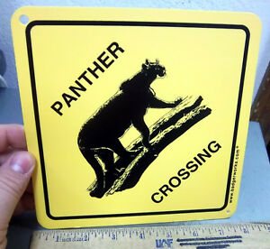 PANTHER-Crossing-Sign-7-5-x-7-5-inches-hard-plastic-made-in-the-USA