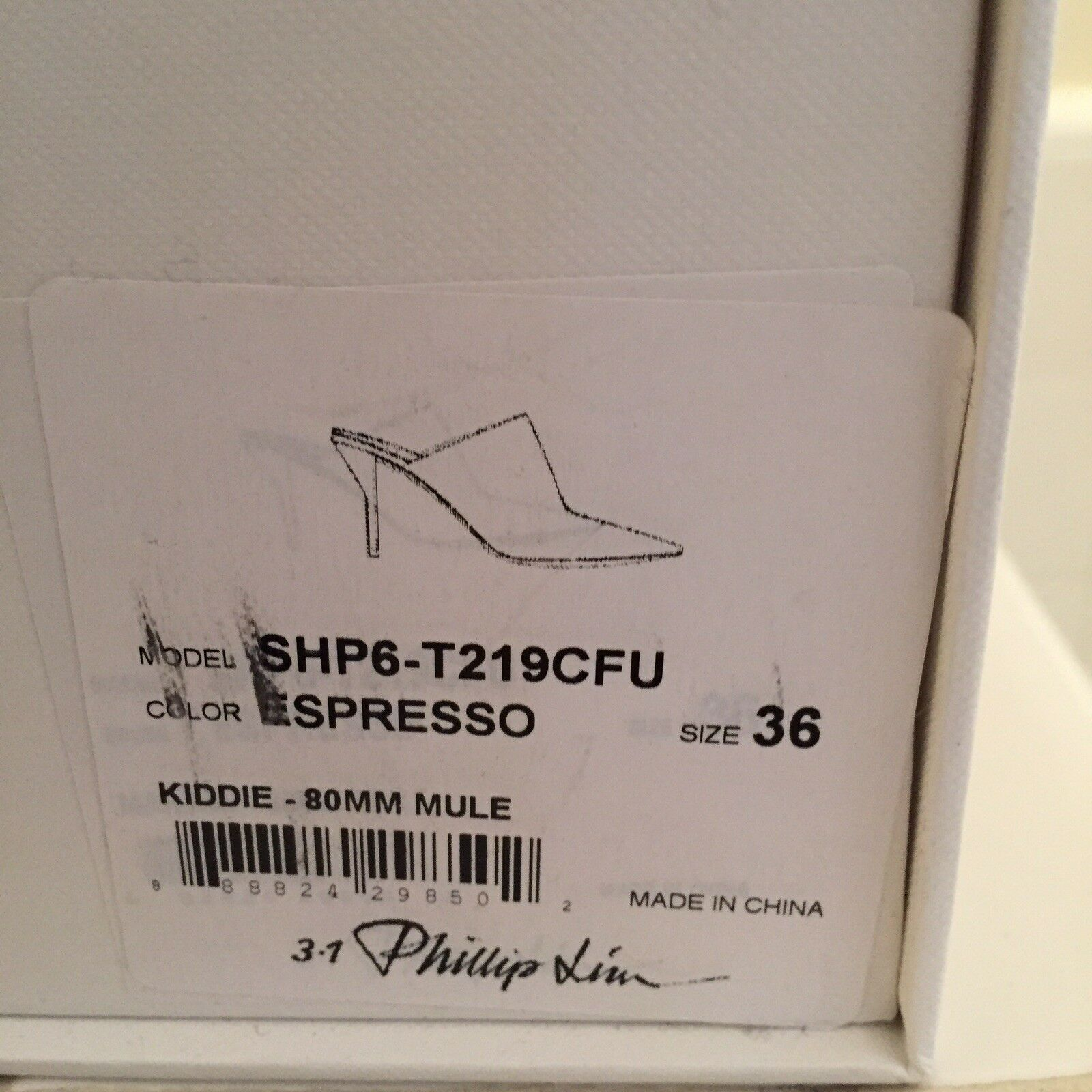 NIB Phillip Lim Lim Lim 3.1 Kiddie Mule Martini Heels - Expresso  475 RP e3b976