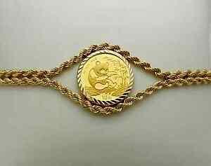 Image Is Loading 14k Gold Rope Bracelet With 1 10 Oz