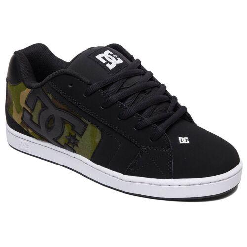Dc Shoes Homme Filet Soi Bas Haut Chaussures Baskets Noir Camouflage Actif Skate