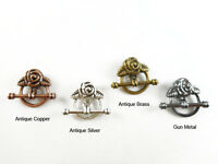 20mm Rose Toggle Clasp Findings • Q9 • You Pick Color