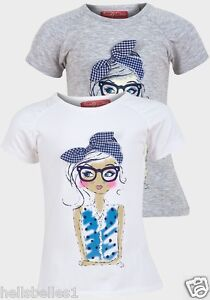 Fille-funky-diva-manches-courtes-034-girl-034-t-shirt-3-4-5-6-7-8-ans