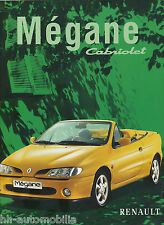 Renault Mégane Cabriolet Prospekt 10 97 brochure 1997 Auto PKWs Autoprospekt