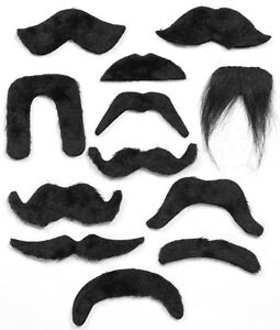 Black-Moustache-Mexican-Bandit-Wing-Commander-Pirate-20s-70s-Vicar-Biker-Chinese