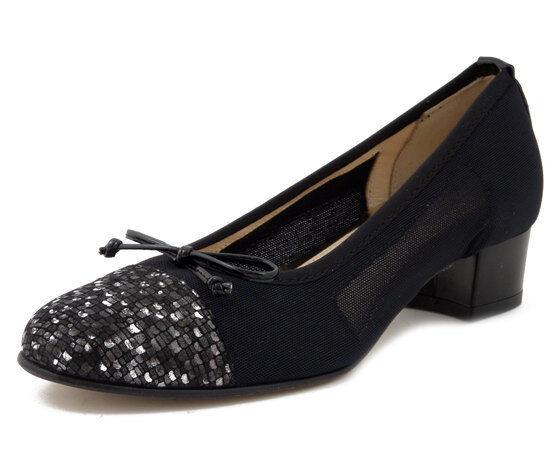 Decolt Dancers piano Comfortable Leather  and Stretch Fabric nero Low Heel  godendo i tuoi acquisti