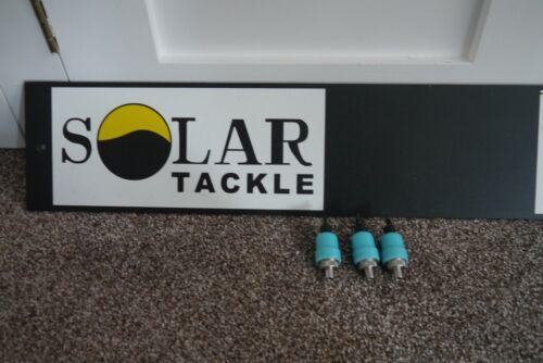Solar Power Glow canettes BLEU X3 nouveau Carp Coarse Fishing Tackle Gear Setup