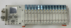 SSSY5-11S6D2-14B-N3, SMC Pneumatics Manifold,14 stations,SY5A00-5U24V, .15-.7MPa