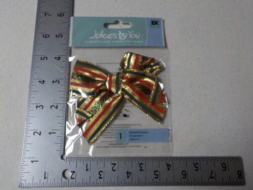 JOLEE/'S BY YOU HOLIDAY BOW CHRISTMAS DIMENSIONAL EMBELLISHMENTS NEW A5268