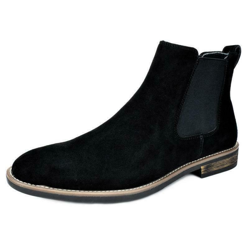 Retro Mens faux Suede Chelsea Chukka pull on Dress Ankle Boot Casual shoes