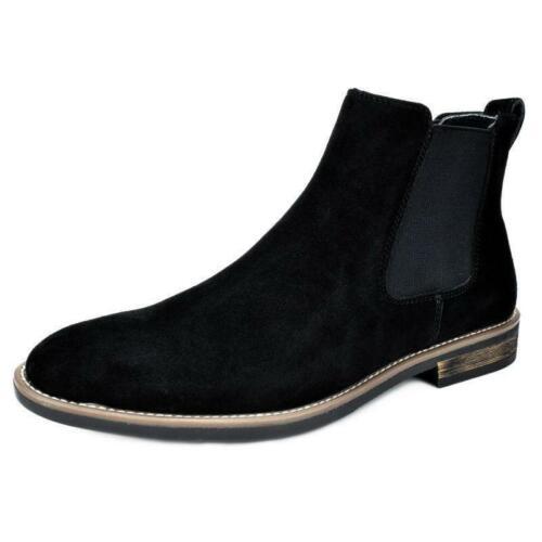 Rétro pour Homme en Daim Synthétique Chelsea Chukka Enfiler Robe Bottines Chaussures De Loisirs