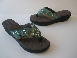 Leather Hot Sandal Us Size 8m Rare Soft Wedge Durango Bed Foot CzFppdg