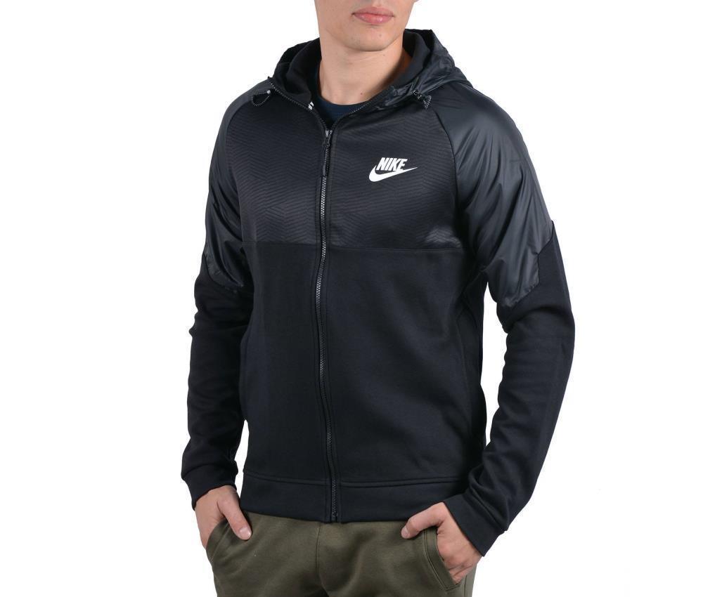 Nike Nike Nike Abbigliamento Sportivo Uomo Advance 15 Felpa Cappuccio e Zip Intera Nero XL 592563