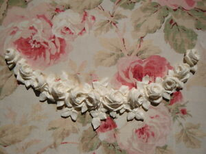 Large-FRENCH-ROSE-SWAG-GARLAND-Furniture-Applique-Architectural-Pediment