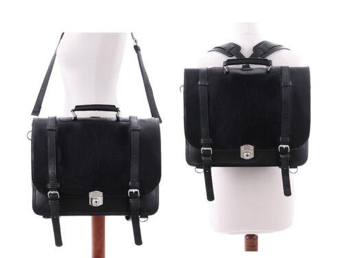 Restyle Rucksack Schul Tasche Gothic Kunst-Leder Steampunk Bag Vintage Backpack