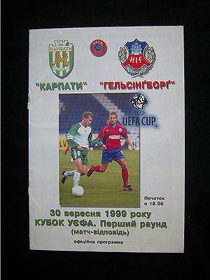 Bescheiden Orig.prg Uefa Cup 1999/00 Karpaty Lviv - Helsingborgs If !! Selten Online Rabatt