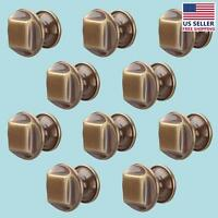 10 Cabinet Knob Antique Brass 1 1/4 Dia  renovator's Supply on sale