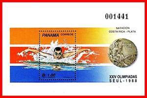 PANAMA 1989 SEOUL OLYMPICS S/S SC#760 MNH SPORTS