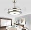 Modern-36-034-Invisible-Ceiling-Fans-with-3-Color-LED-Light-Fan-Chandelier-remote thumbnail 3
