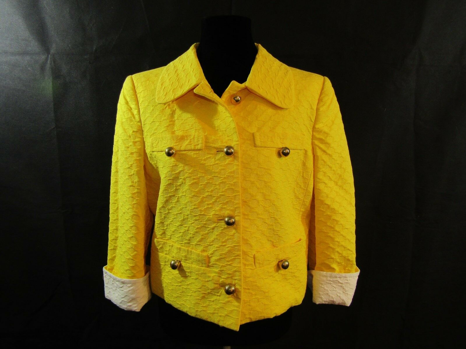 d25aa1e4 LOS ANGELES Made in Yellow Crop Coat Size 44 NWT COUTURE COUTURE npoemc3583- Coats, Jackets & Vests