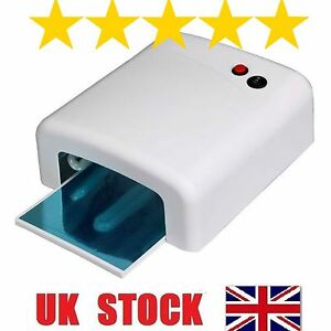 36W-UV-Lamp-Nail-Art-Gel-Curing-Tube-Light-Dryer-White-with-Timer-Function