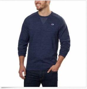 b28cce0f4fe0 NWOT Champion Men's Long Sleeve Crew Neck Sweater - NAVY, XL | eBay