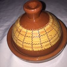 Hand Crafted &colored Ceramic Small Tagine  Moroccan  Potery.