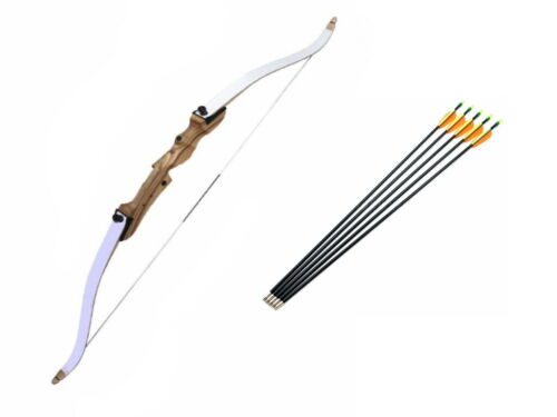 "68/"" Take Down Target Field Archery Hunting Recurve Bow and Arrows Set for Adults"